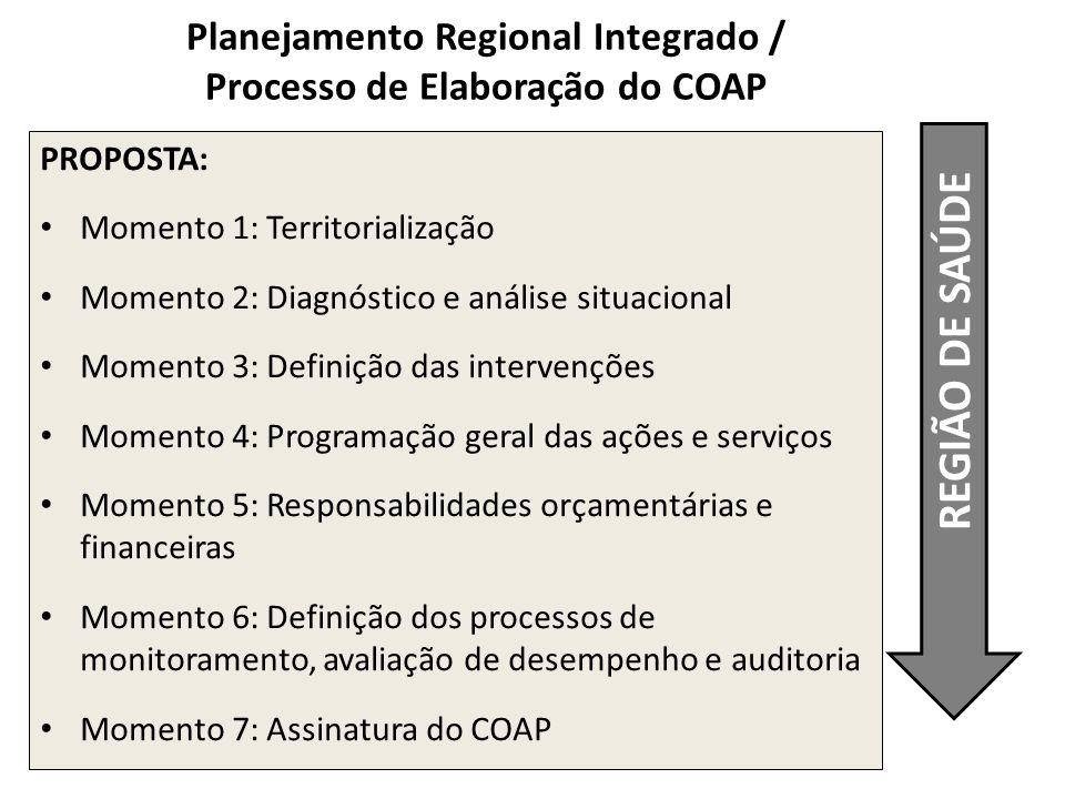Planejamento Regional Integrado / Processo de Elaboração do COAP
