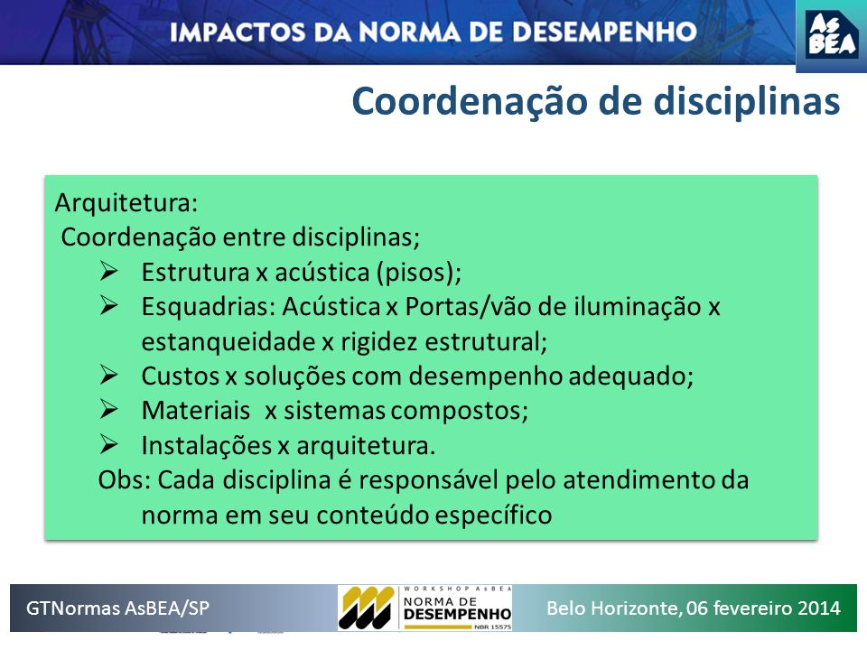 Coordenação de disciplinas