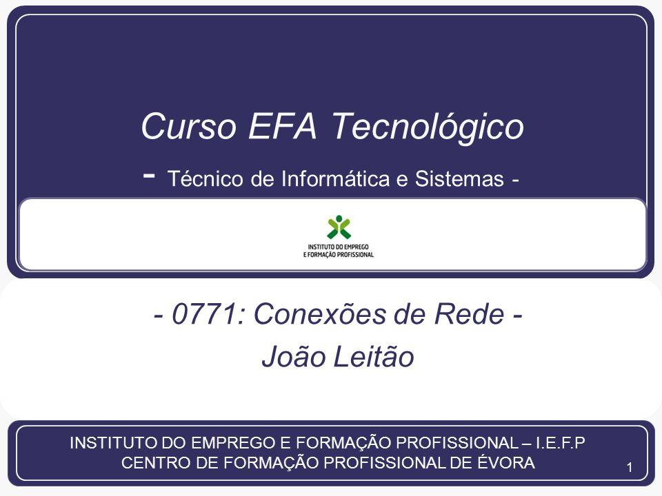 Curso EFA Tecnológico - Técnico de Informática e Sistemas -