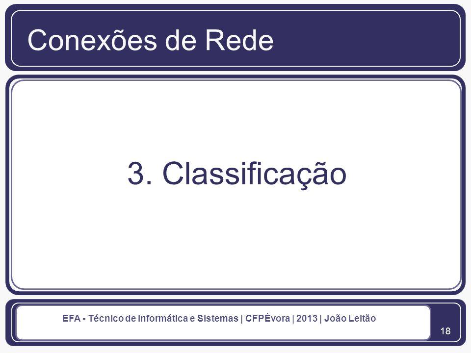 Conexões de Rede 3. Classificação