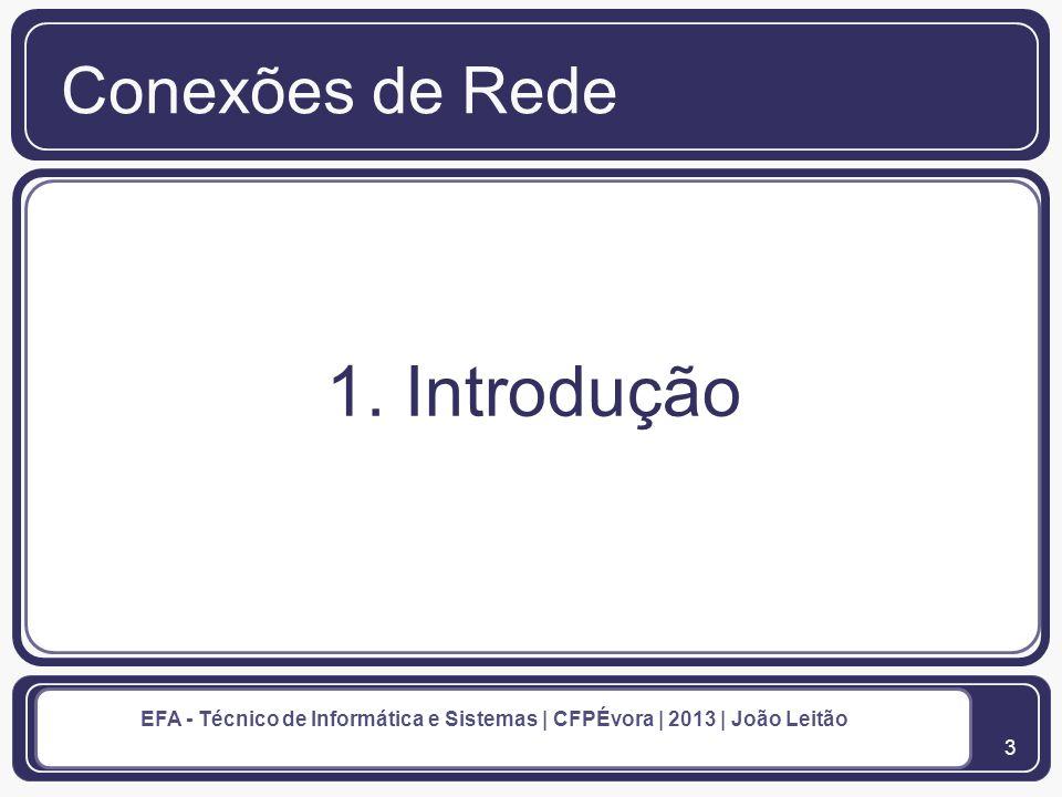 Conexões de Rede 1. Introdução