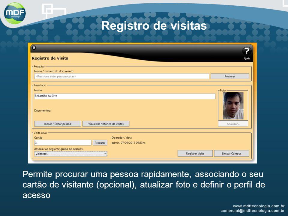 Registro de visitas
