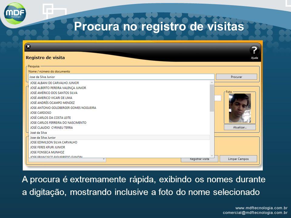 Procura no registro de visitas