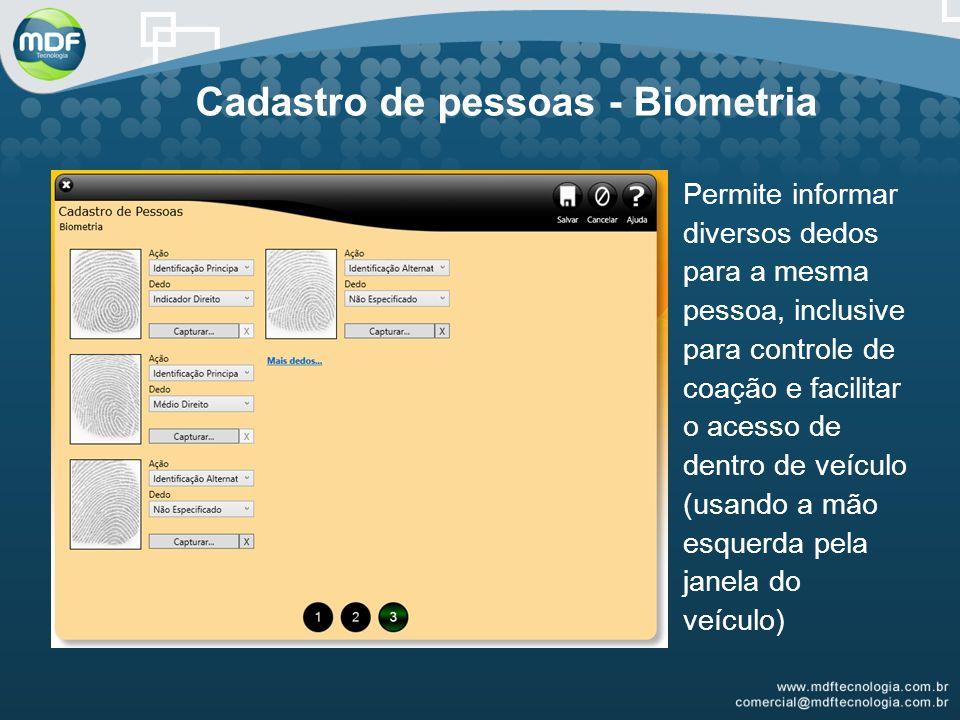Cadastro de pessoas - Biometria