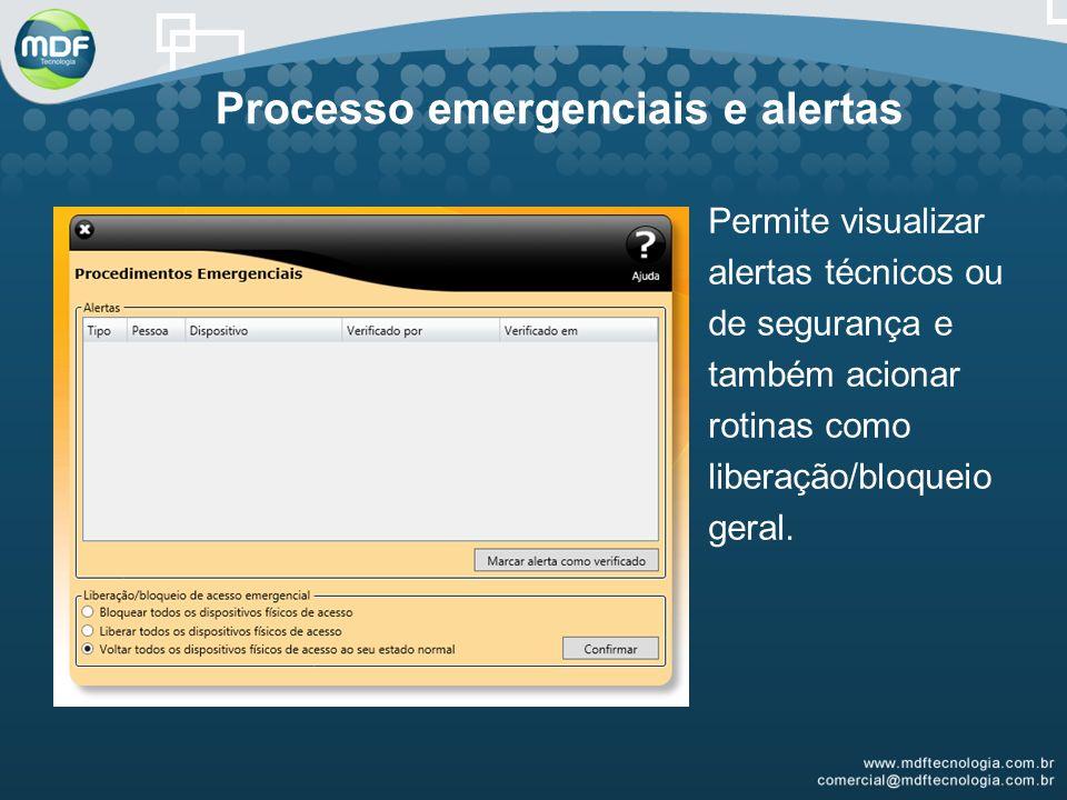 Processo emergenciais e alertas