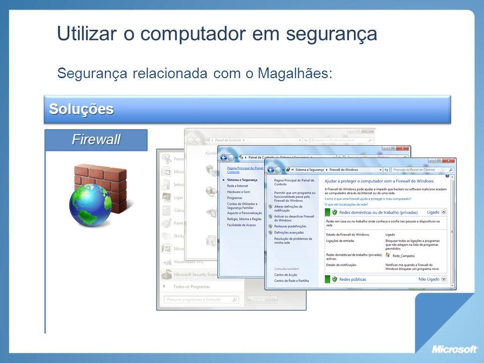 Utilizar o computador em segurança