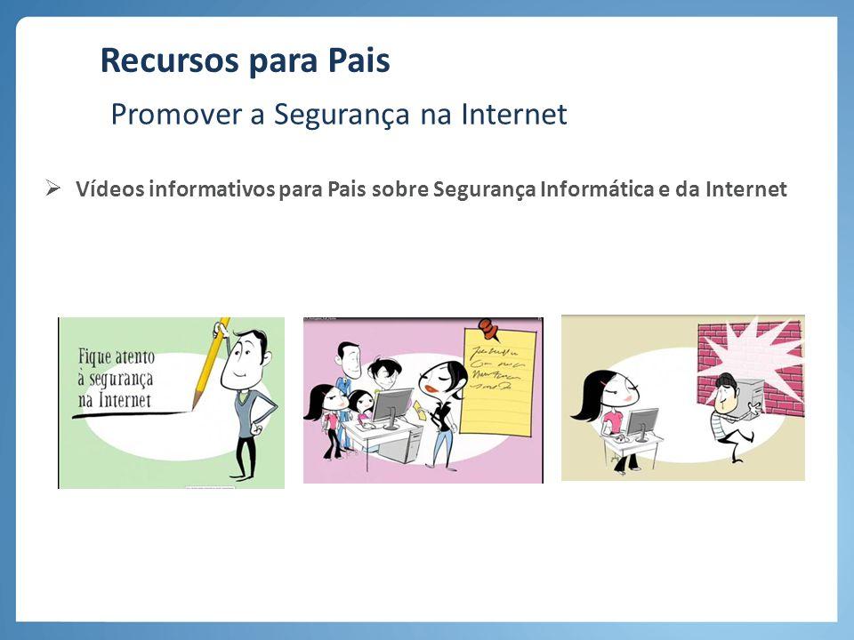 Recursos para Pais Promover a Segurança na Internet