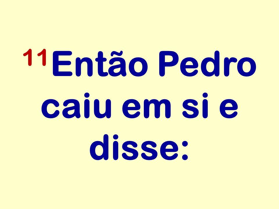 11Então Pedro caiu em si e disse: