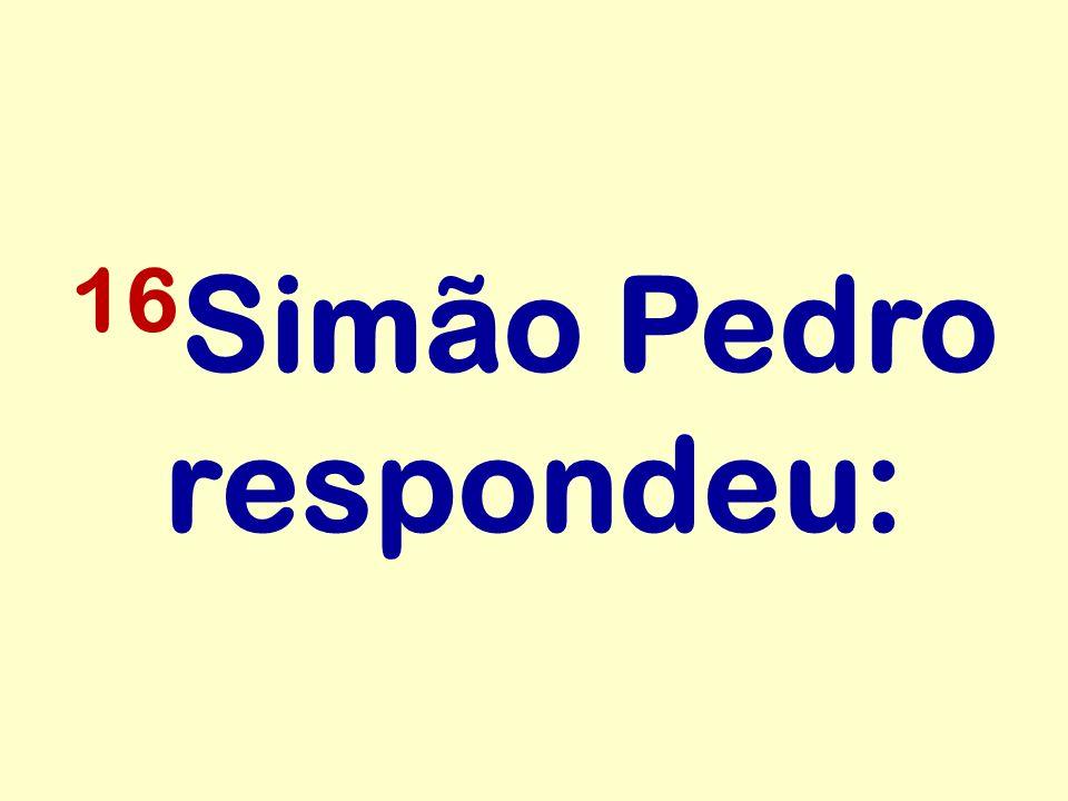 16Simão Pedro respondeu: