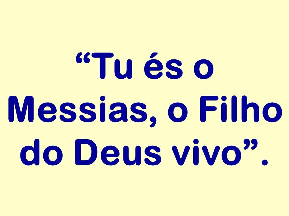 Tu és o Messias, o Filho do Deus vivo .