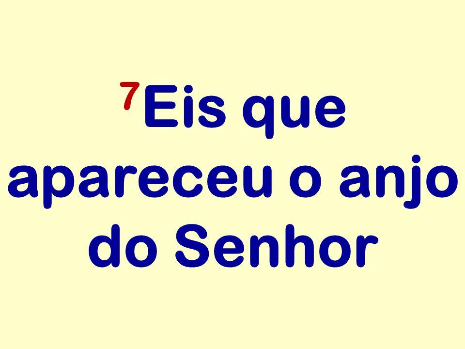 7Eis que apareceu o anjo do Senhor
