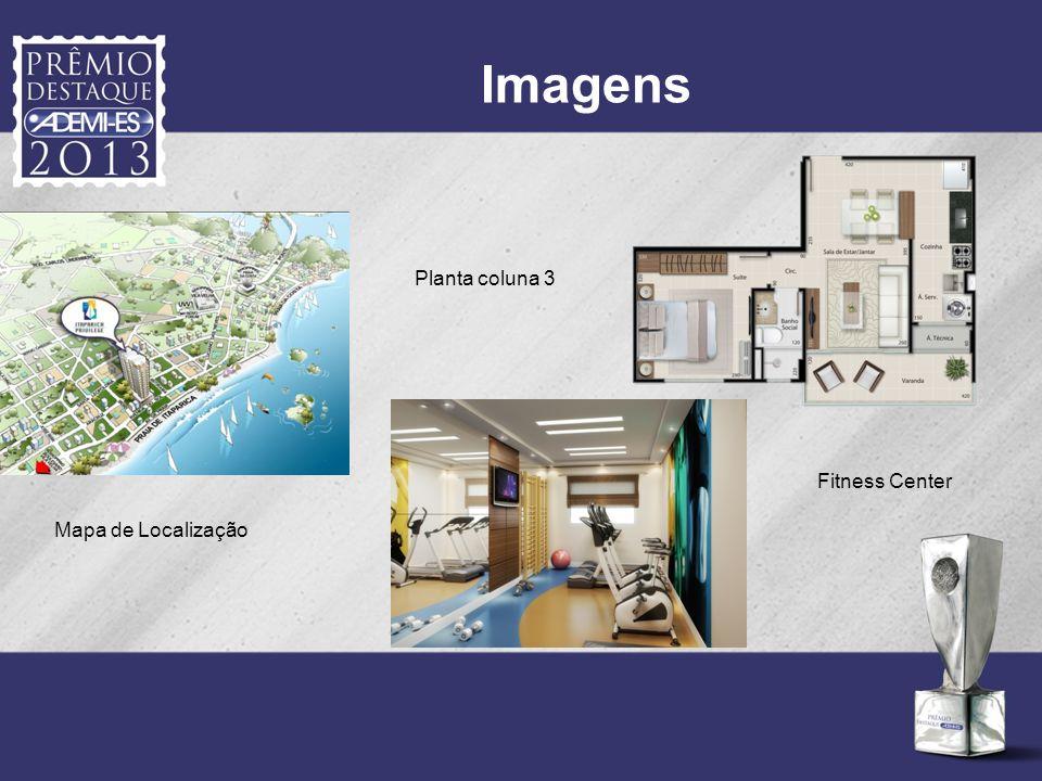 Imagens Planta coluna 3 Fitness Center Mapa de Localização