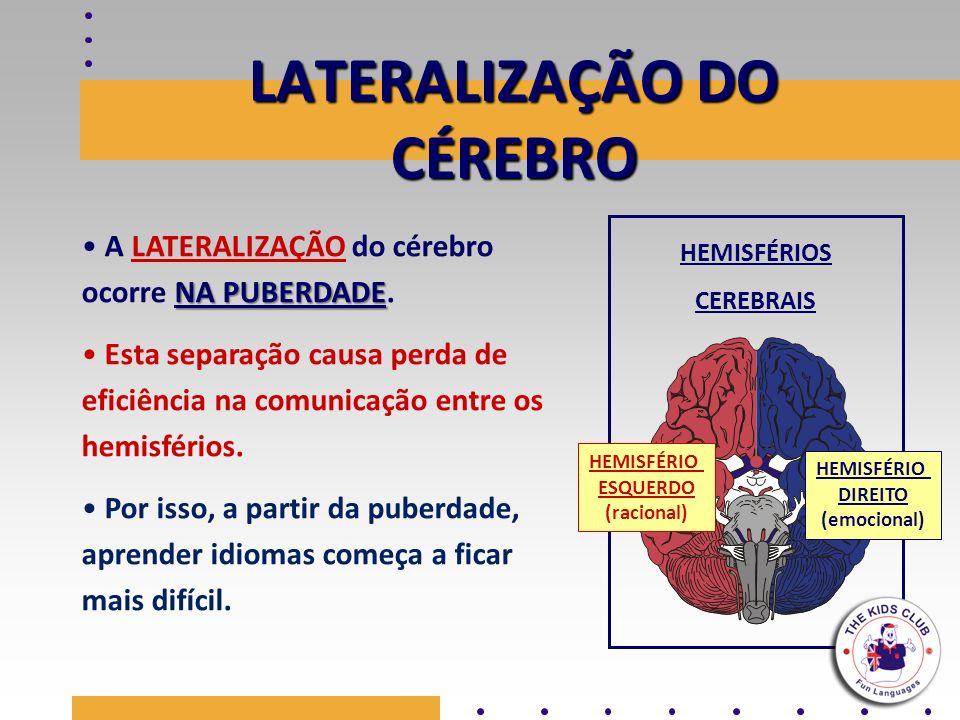 LATERALIZAÇÃO DO CÉREBRO