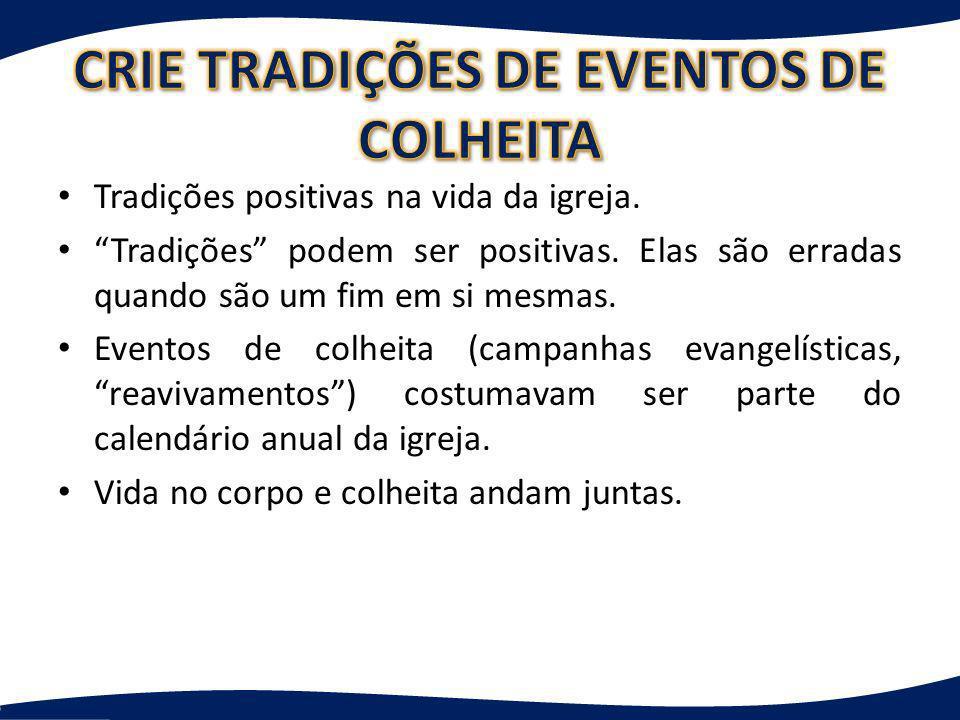 CRIE TRADIÇÕES DE EVENTOS DE COLHEITA