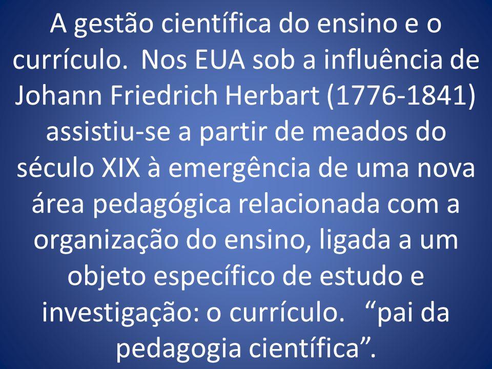 A gestão científica do ensino e o currículo