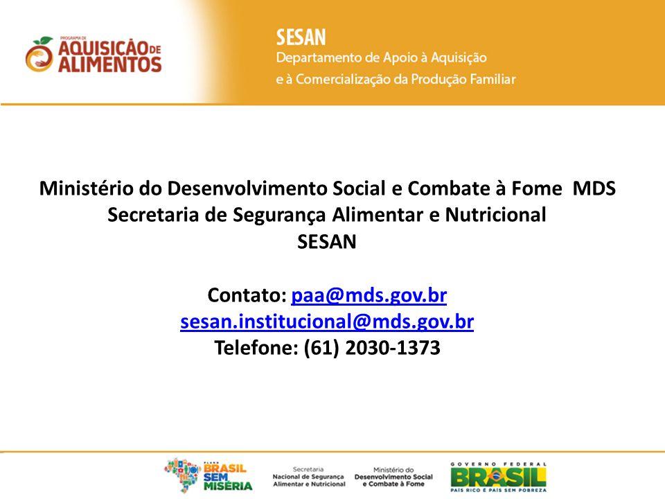 Ministério do Desenvolvimento Social e Combate à Fome MDS