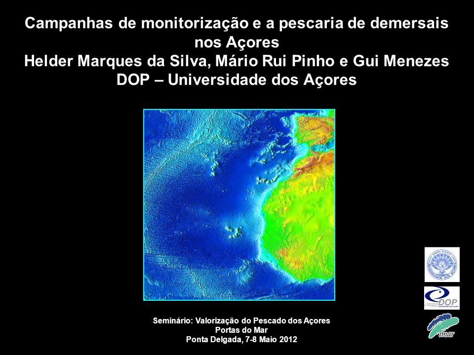 Campanhas de monitorização e a pescaria de demersais nos Açores