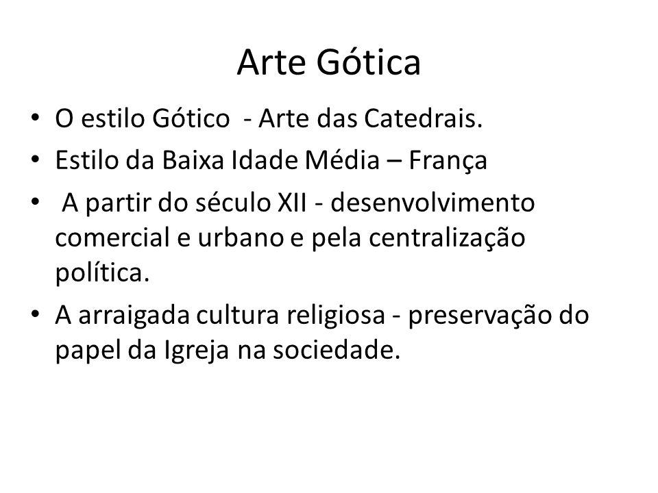 Arte Gótica O estilo Gótico - Arte das Catedrais.