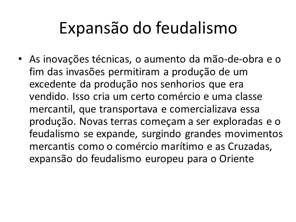 Expansão do feudalismo