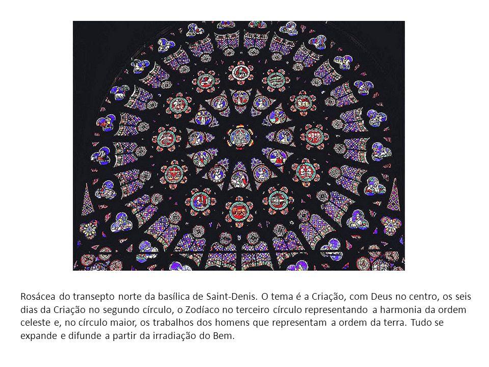 Rosácea do transepto norte da basílica de Saint-Denis