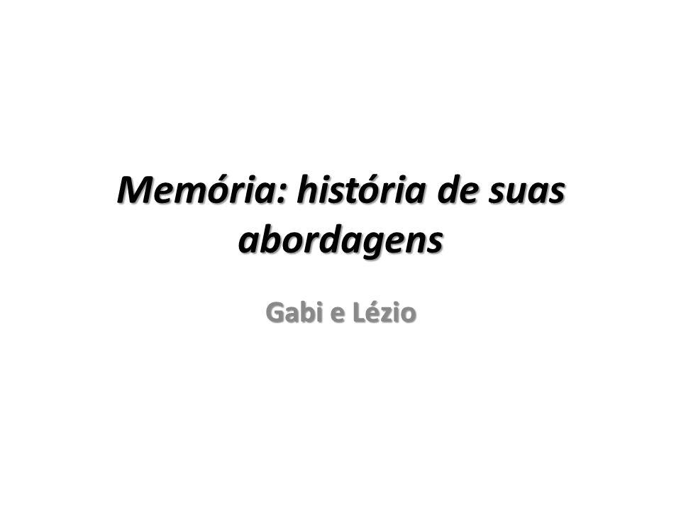 Memória: história de suas abordagens