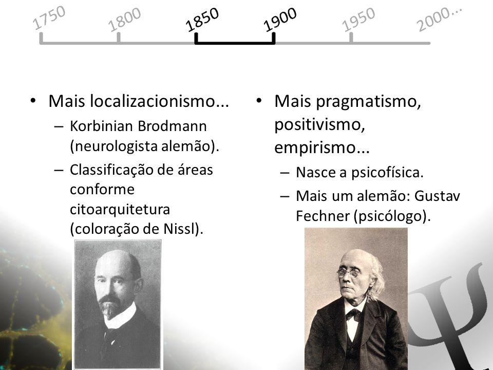 Mais localizacionismo... Mais pragmatismo, positivismo, empirismo...