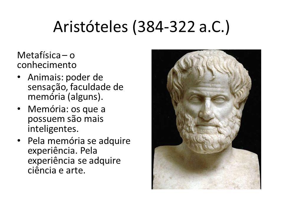 Aristóteles (384-322 a.C.) Metafísica – o conhecimento