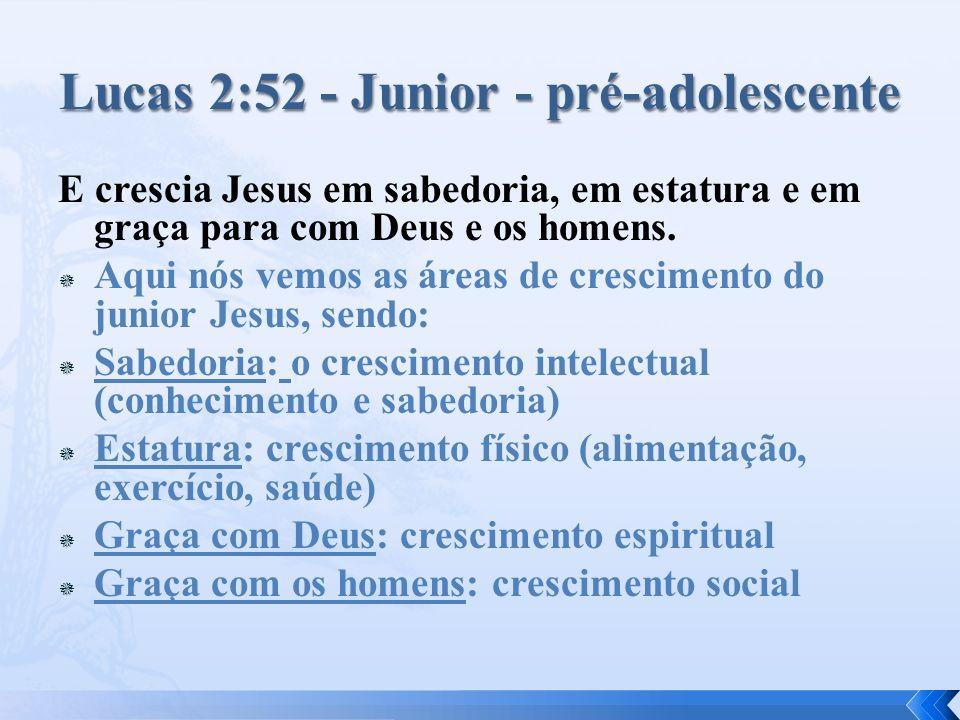 Lucas 2:52 - Junior - pré-adolescente