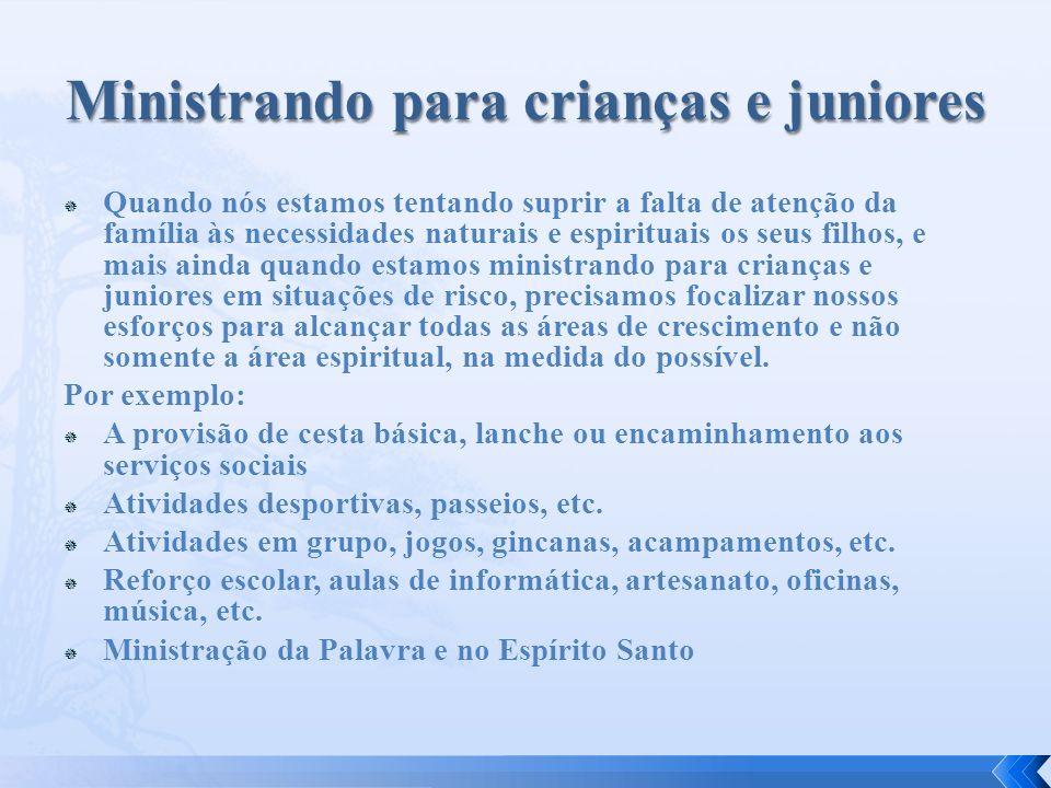 Ministrando para crianças e juniores