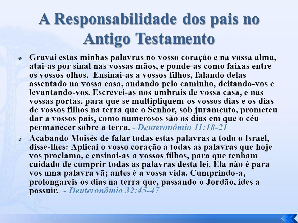 A Responsabilidade dos pais no Antigo Testamento