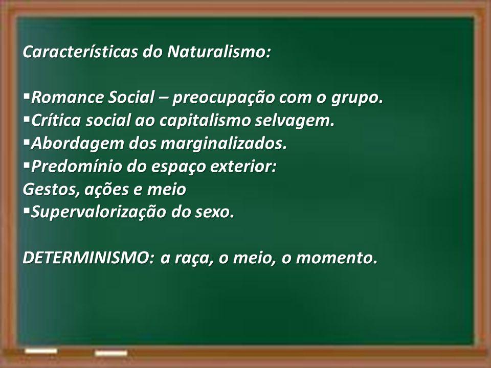 Características do Naturalismo: