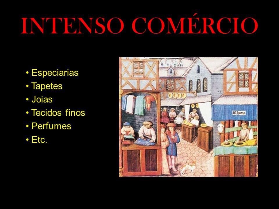 INTENSO COMÉRCIO • Especiarias • Tapetes • Joias • Tecidos finos • Perfumes • Etc.