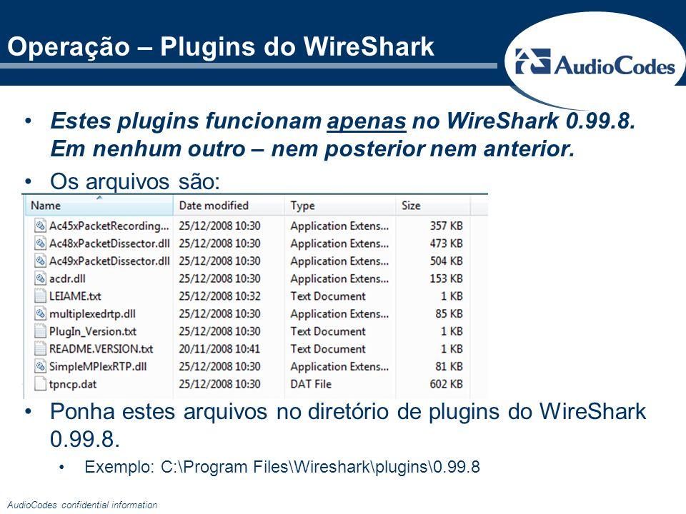Operação – Plugins do WireShark