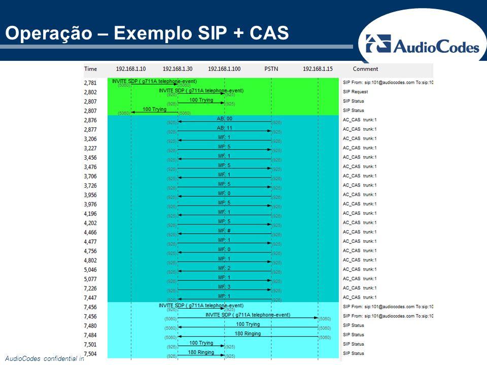 Operação – Exemplo SIP + CAS