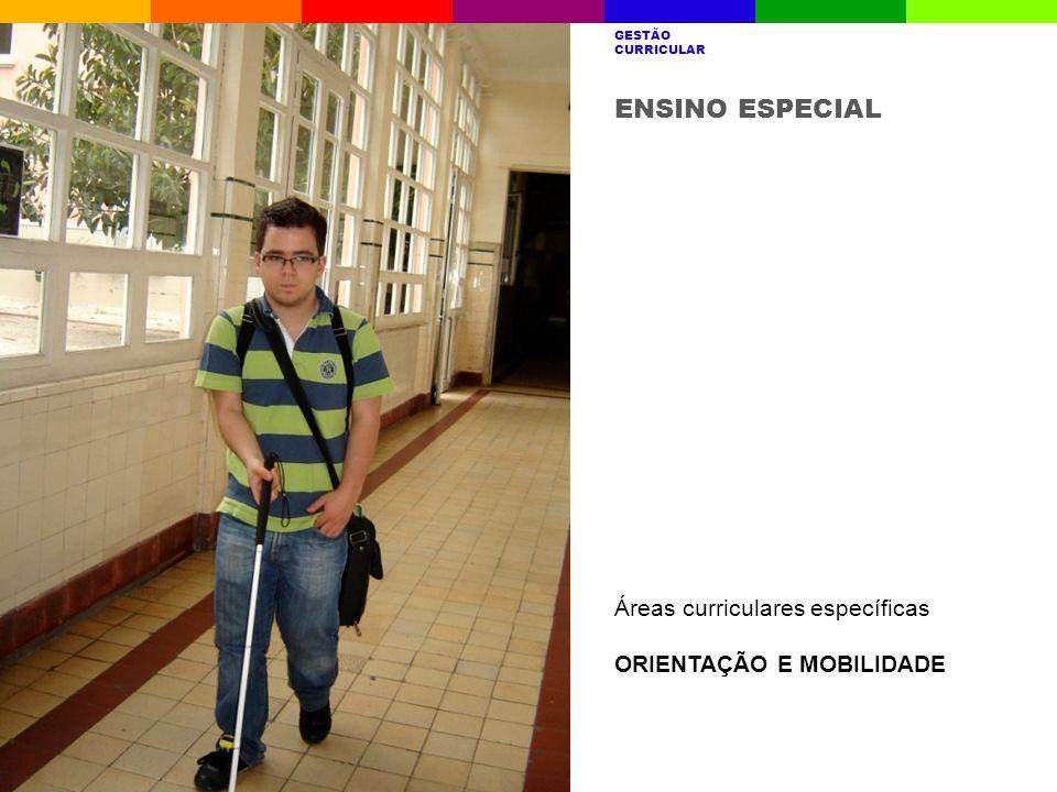 ENSINO ESPECIAL Áreas curriculares específicas ORIENTAÇÃO E MOBILIDADE