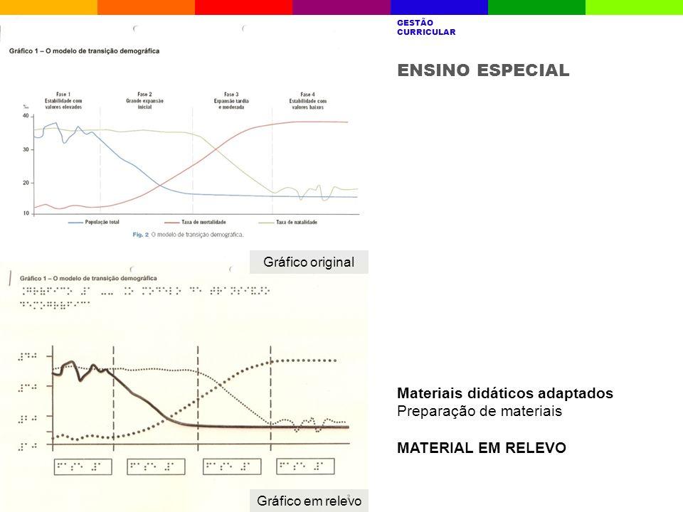 ENSINO ESPECIAL Materiais didáticos adaptados Preparação de materiais
