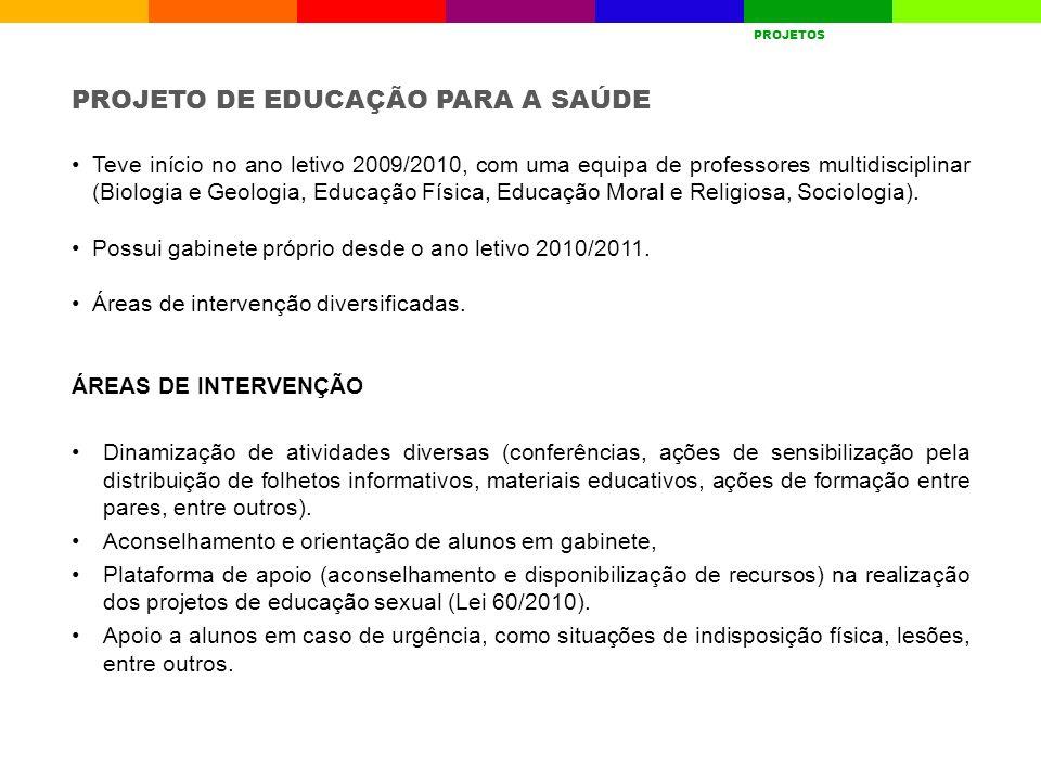 PROJETO DE EDUCAÇÃO PARA A SAÚDE