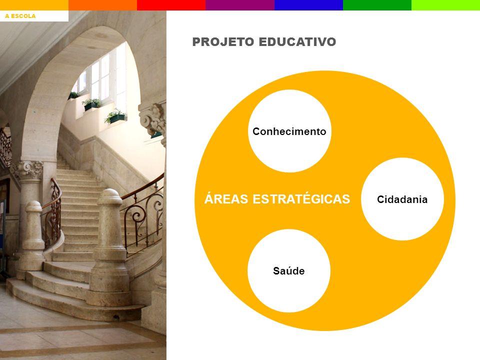 ÁREAS ESTRATÉGICAS PROJETO EDUCATIVO Conhecimento Cidadania Saúde