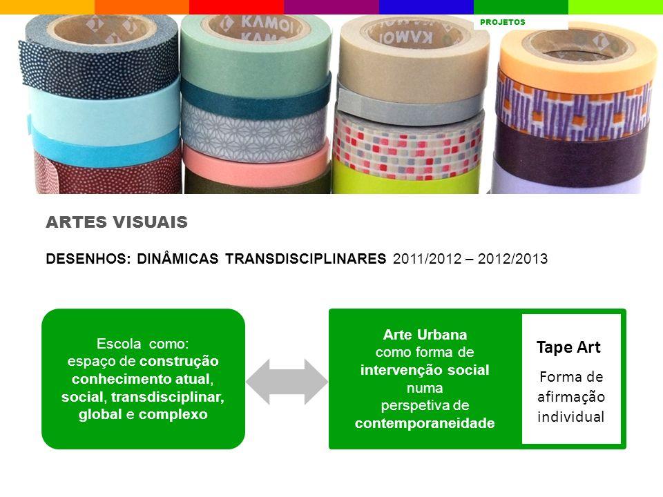 Tape Art ARTES VISUAIS Forma de afirmação individual