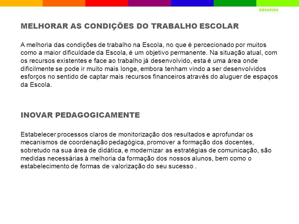 MELHORAR AS CONDIÇÕES DO TRABALHO ESCOLAR