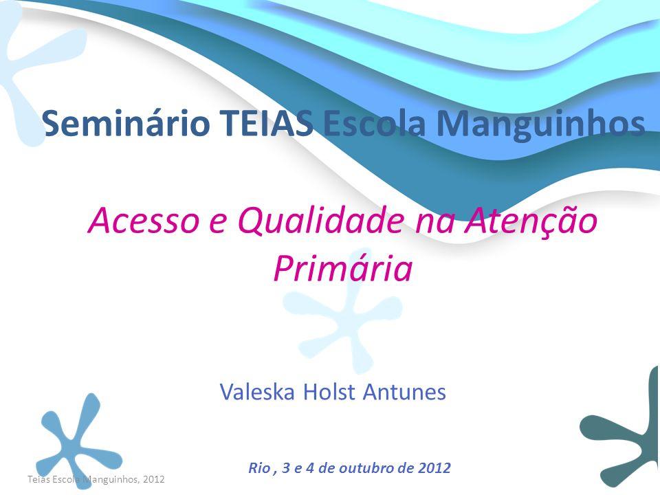 Teias Escola Manguinhos, 2012