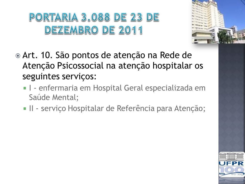 PORTARIA 3.088 DE 23 DE DEZEMBRO DE 2011