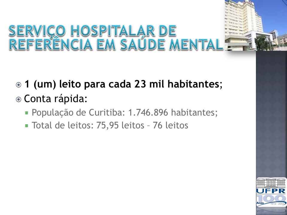 SERVIÇO HOSPITALAR DE REFERÊNCIA EM SAÚDE MENTAL