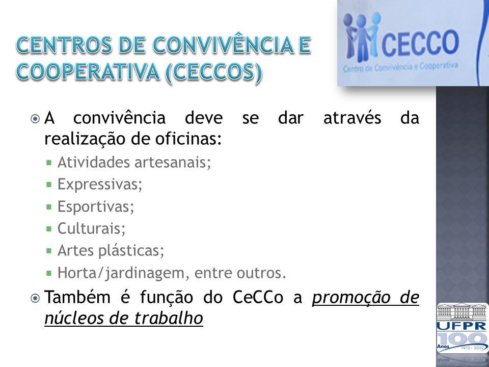 CENTROS DE CONVIVÊNCIA E COOPERATIVA (CECCOs)