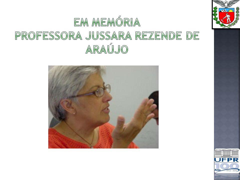 Em memória Professora jussara rezende de araújo
