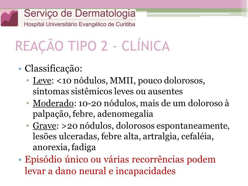 REAÇÃO TIPO 2 - CLÍNICA Classificação: