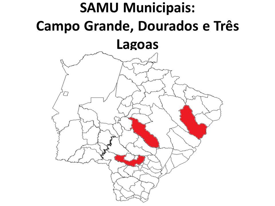 SAMU Municipais: Campo Grande, Dourados e Três Lagoas