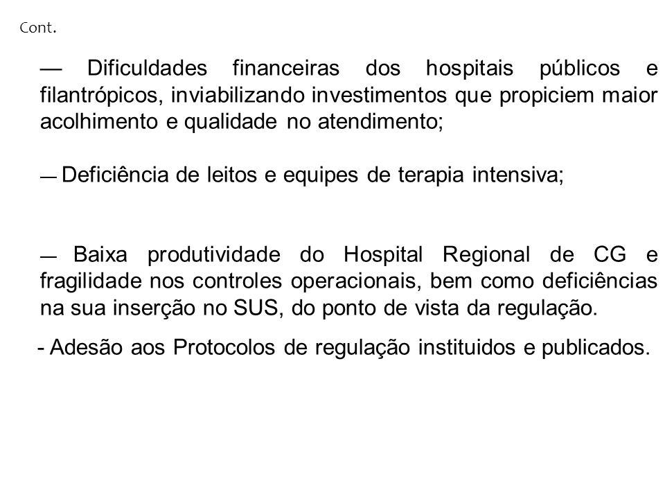 - Adesão aos Protocolos de regulação instituidos e publicados.
