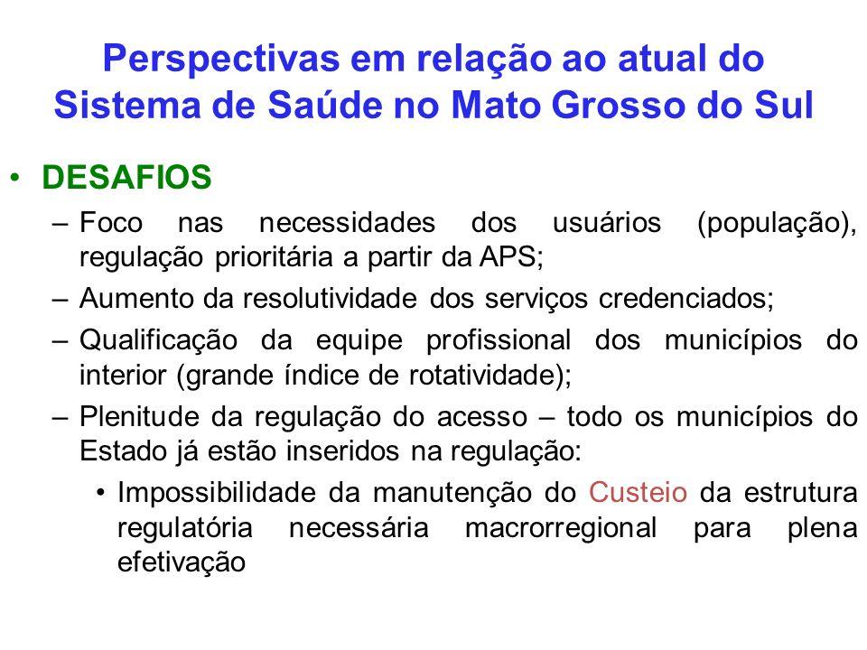 Perspectivas em relação ao atual do Sistema de Saúde no Mato Grosso do Sul