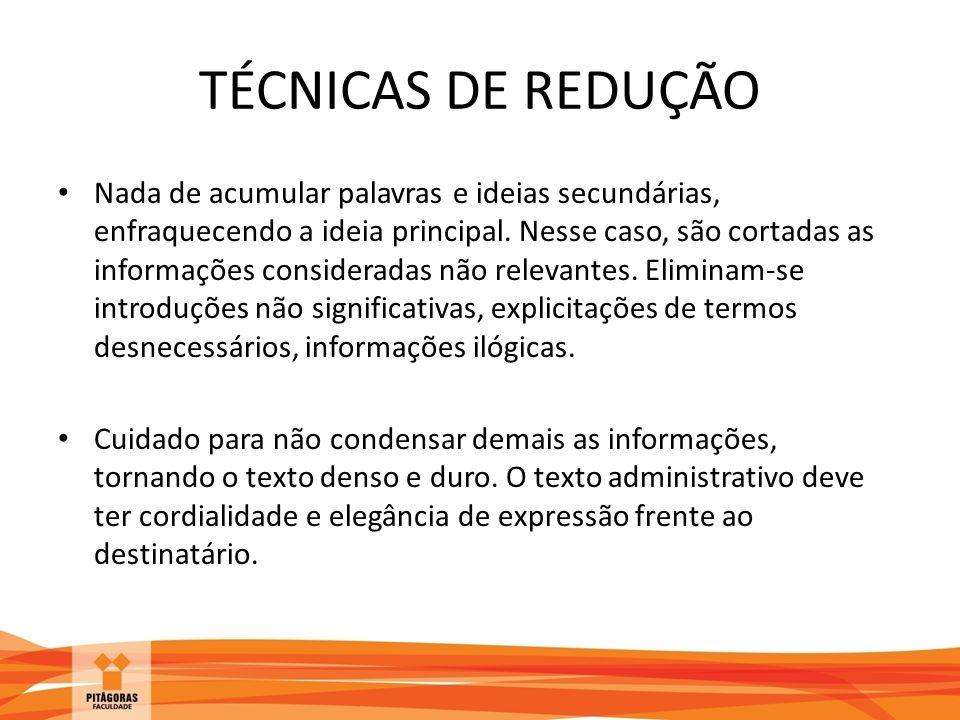 TÉCNICAS DE REDUÇÃO